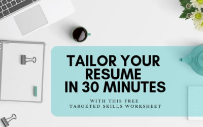 Tailor your Resume in 30 minutes
